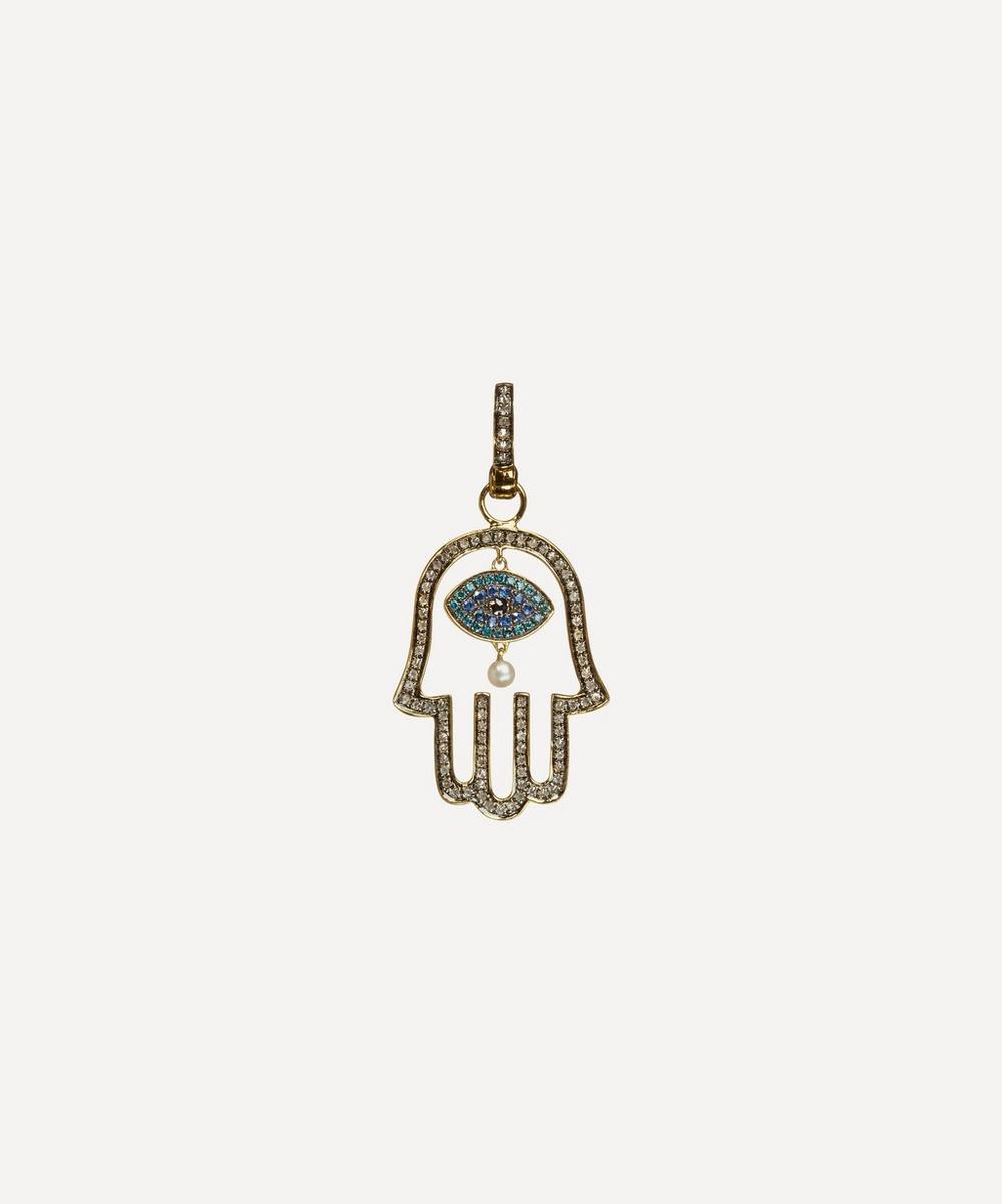 18ct Gold Mythology Hand of Fatima Pendant