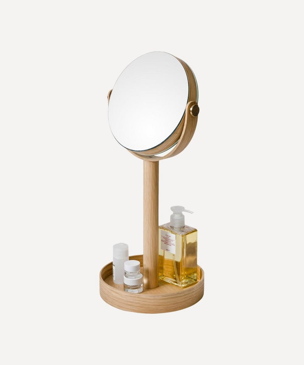 Natural Oak Magnify Mirror