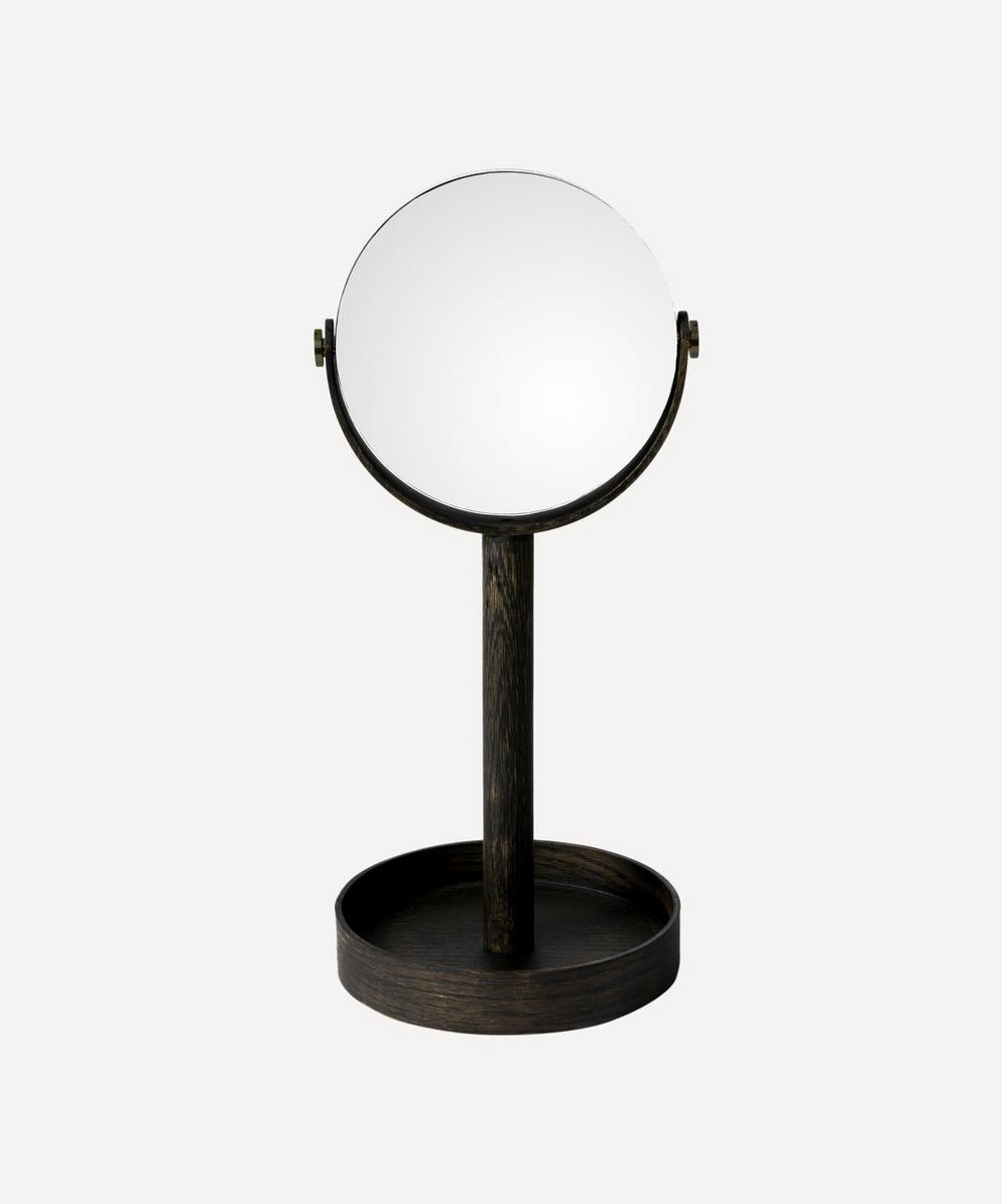 Dark Oak Magnify Mirror