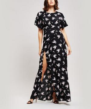 Printed Crêpe Wrap Gown