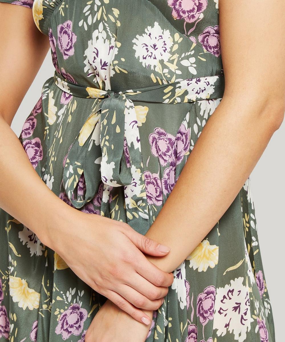 Floral Wrap-Dress