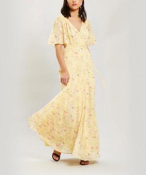 Short Sleeve Maxi Wrap Dress