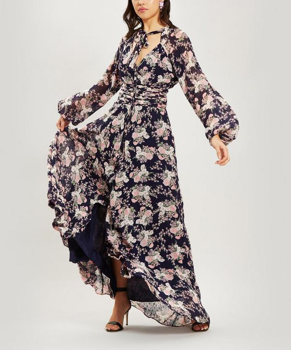 a97c8744a1e Floral Long Sleeve Maxi-Dress ...