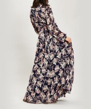 Floral Long Sleeve Maxi-Dress
