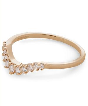 Gold Tiara Curve Diamond Ring