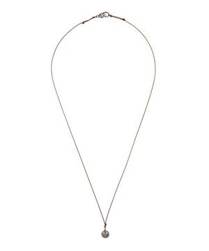 Oxidised Silver Diamond Peace Sign Cord Necklace