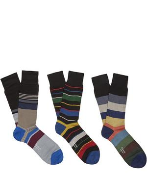Block Stripe Socks Pack of Three