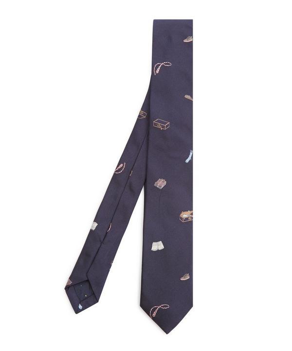 Embroidered Accessories Silk Tie