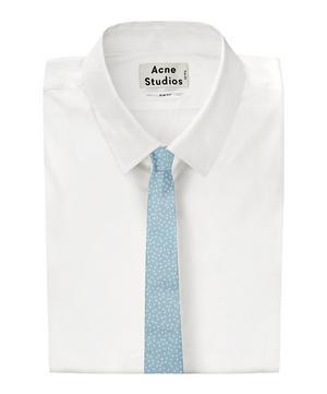 Star Print Silk Tie