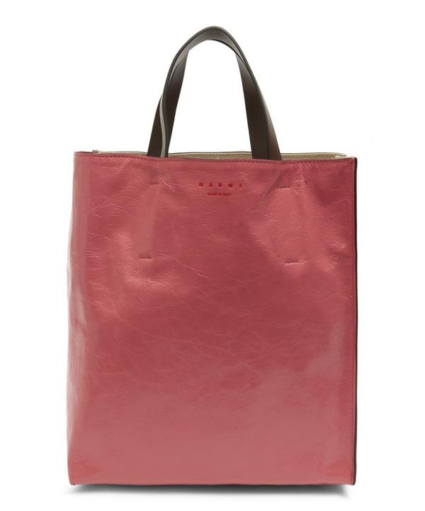 Museo Small Bi-Colour Leather Tote Bag