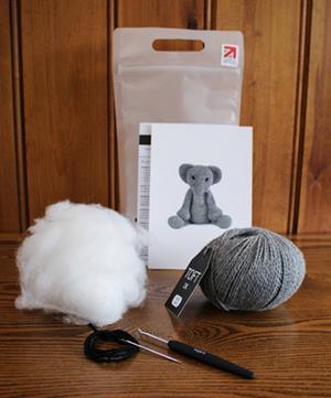 Bridget the Elephant Crochet Toy Kit