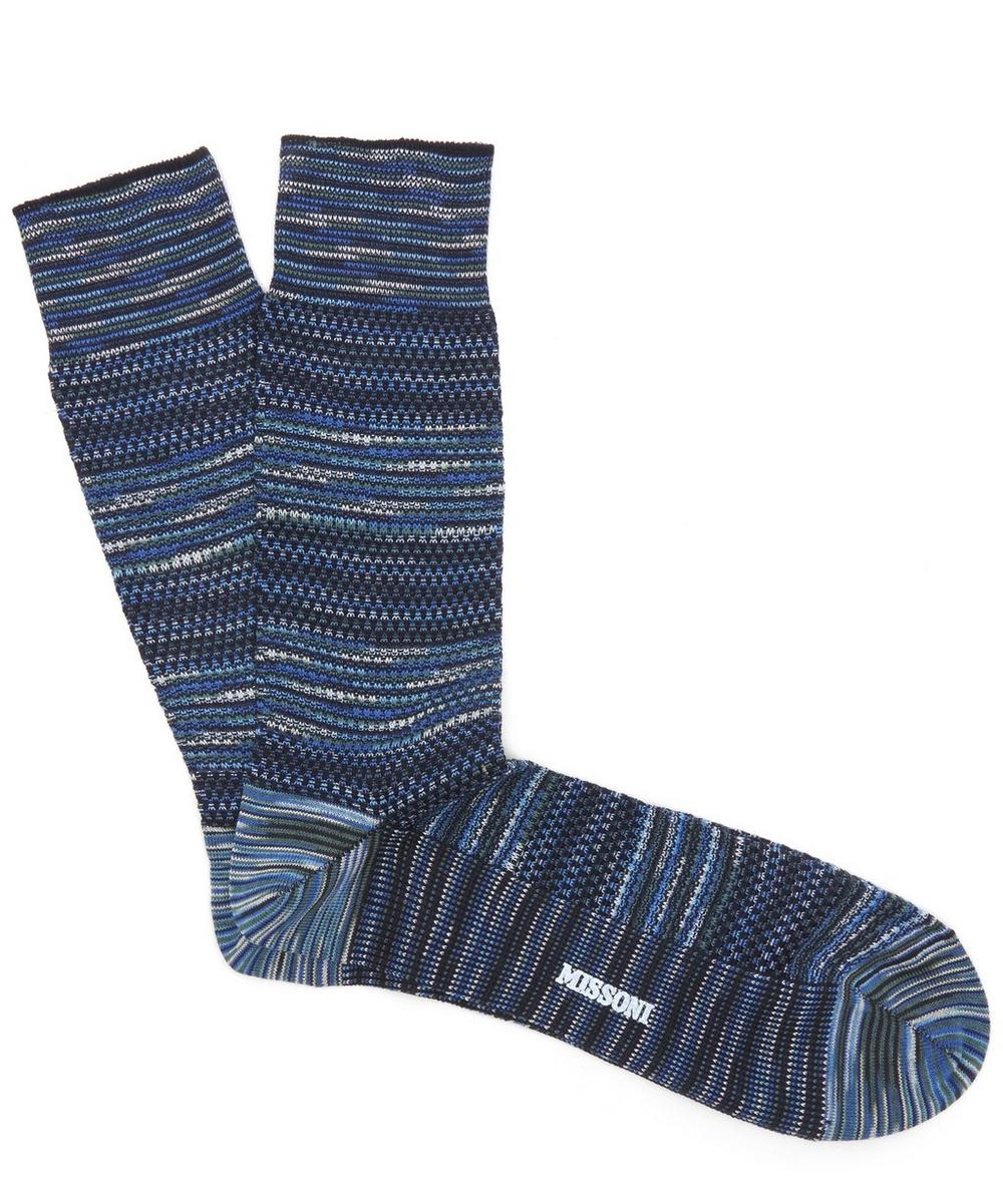 Multi-Knit Panel Socks