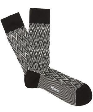 Tonal Zig Zag Socks