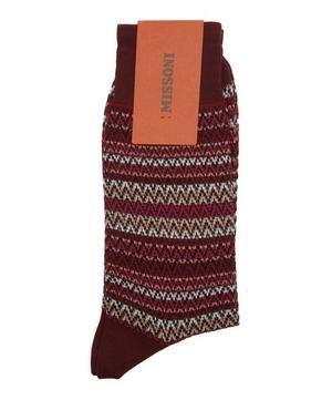 Multi-Stripe Zig Zag Socks