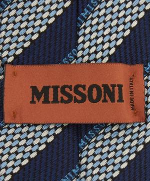 Diagonal Stripe Text Tie