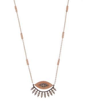 Rose Gold 10th Eye Regina Diamond Necklace
