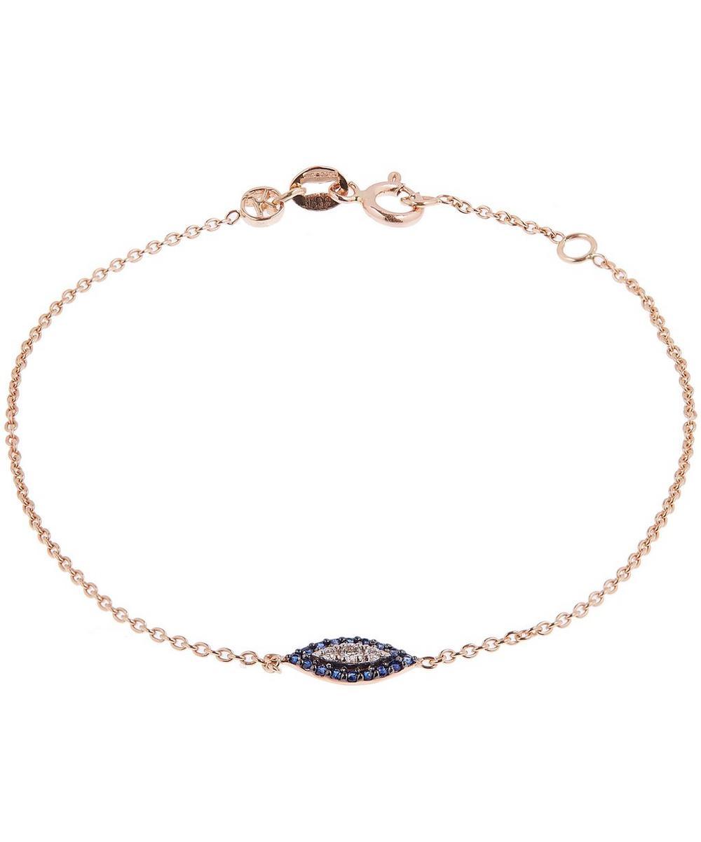 Rose Gold 10Th Eye Haven Sapphire And Diamond Bracelet
