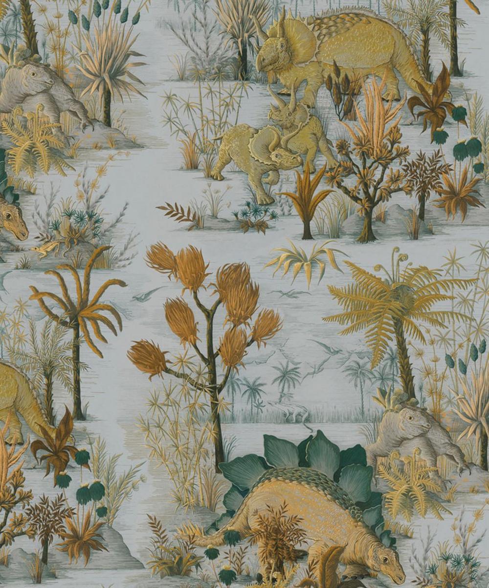 Dinosauria Cotton Linen Fabric