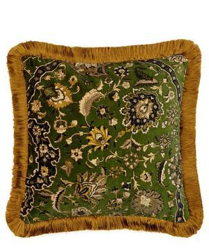 Zanjan Medium Velvet Fringed Cushion