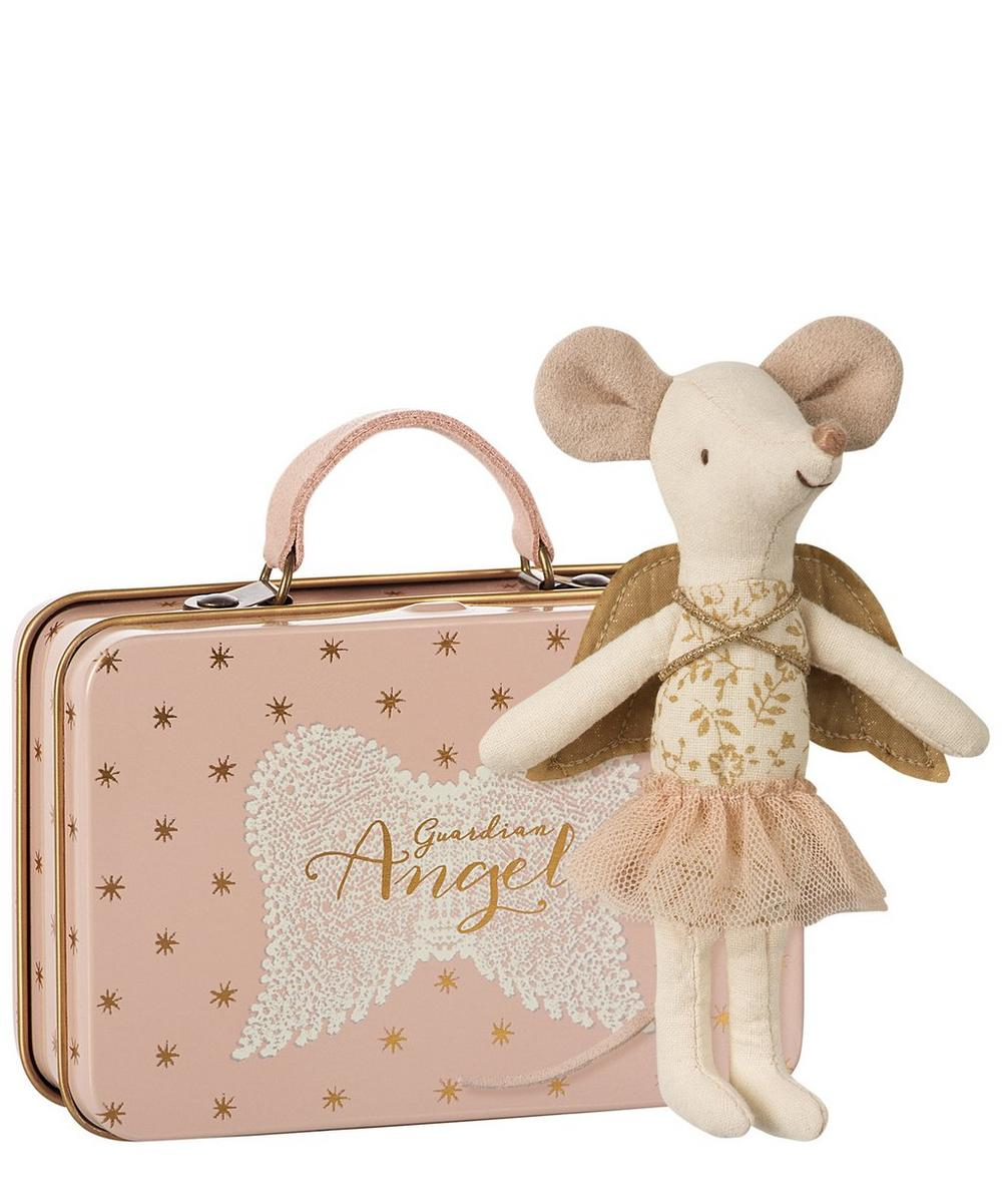 Guardian Angel Big Sister Mouse With Suitcase