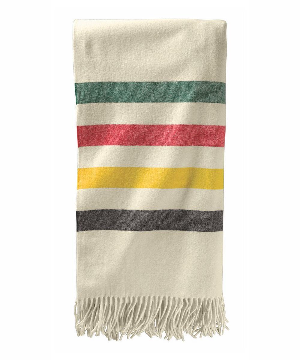 Fifth Avenue Glacier Stripe Wool Throw