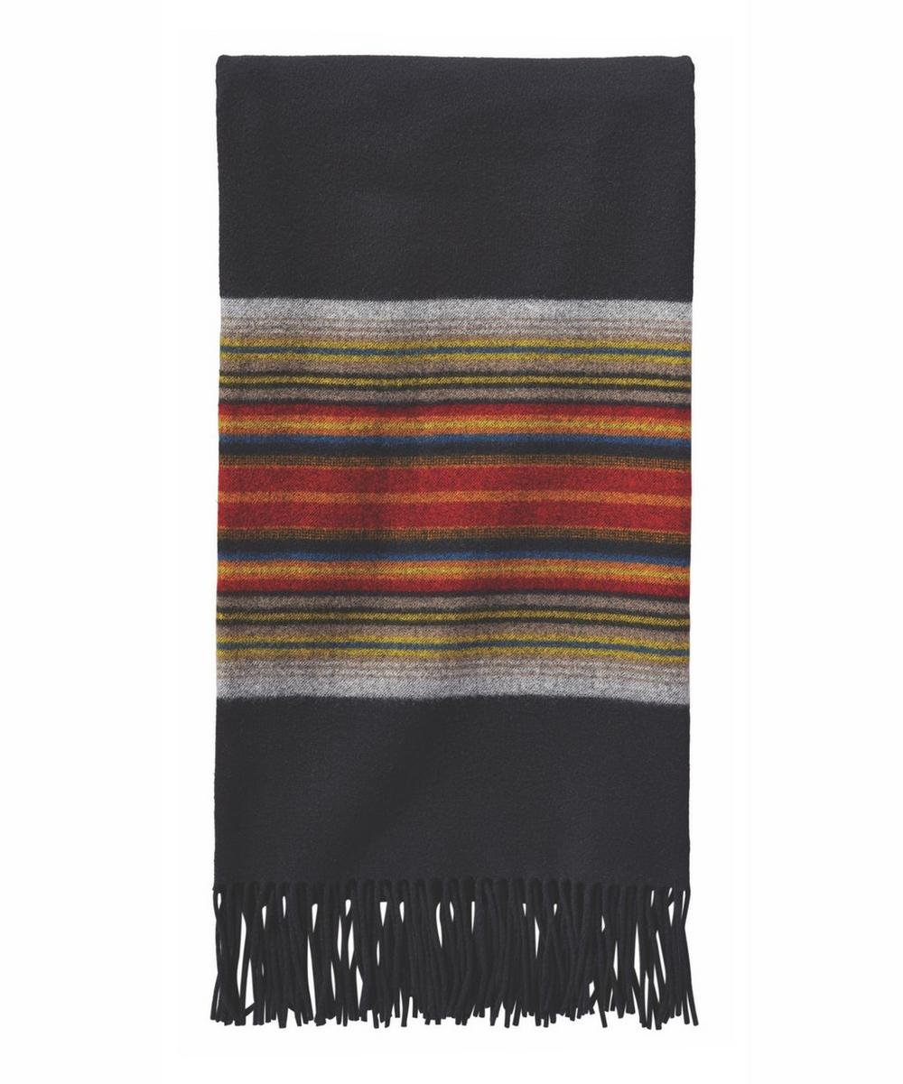Fifth Avenue Acadia Stripe Wool Throw