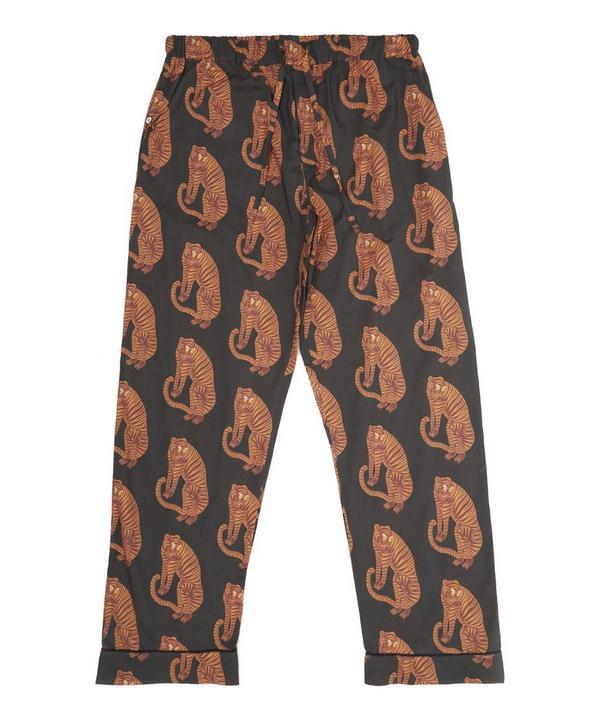 Desmond & Dempsey - Sansindo Tiger Print Cotton Pyjama Trousers