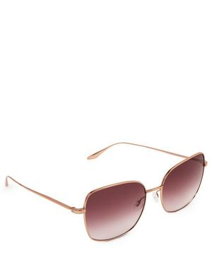 Camille Large Square Metal Sunglasses