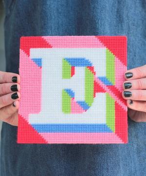Letter 'E' Needlepoint Kit