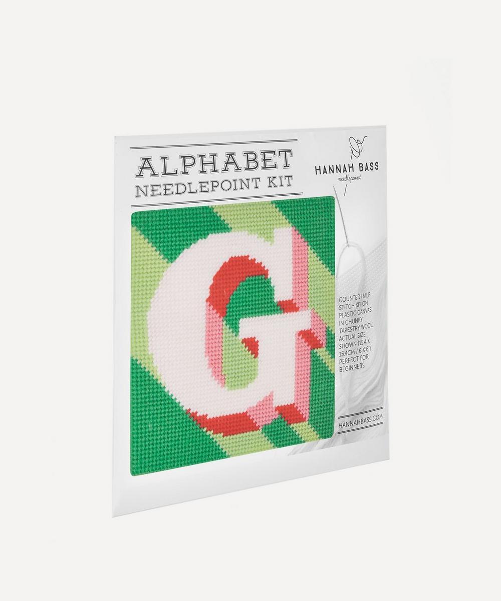 Letter G Needlepoint Kit