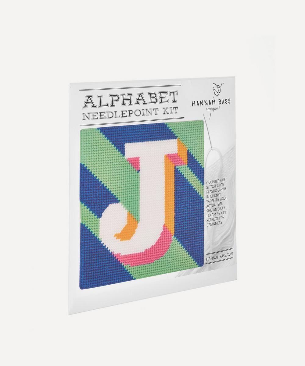 Letter J Needlepoint Kit