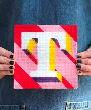 Letter 'T' Needlepoint Kit