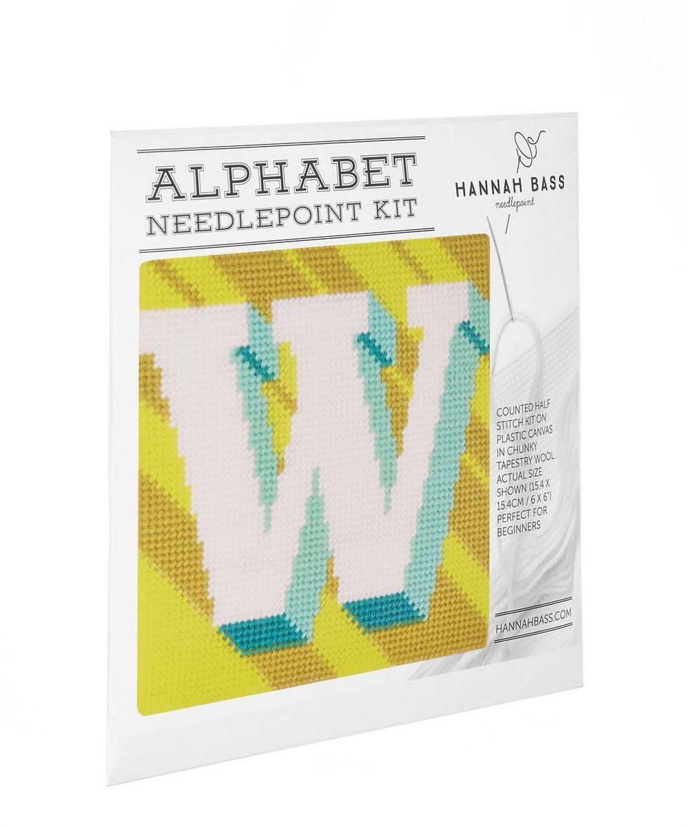 Letter W Needlepoint Kit