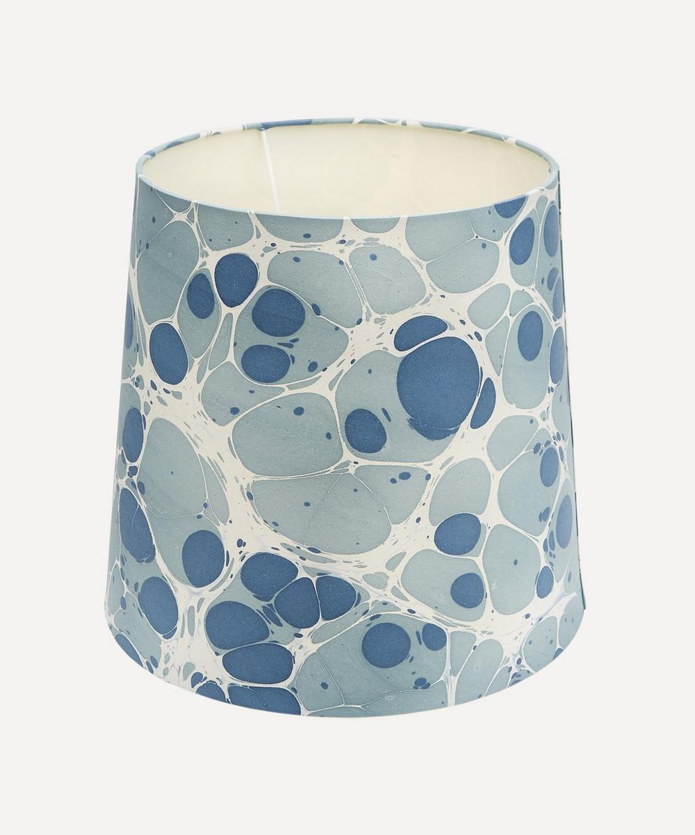 Tall Tapered Hand-Marbled Sesia Lampshade