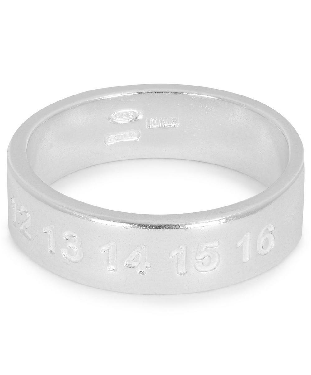 Silver Classic Numbers Ring