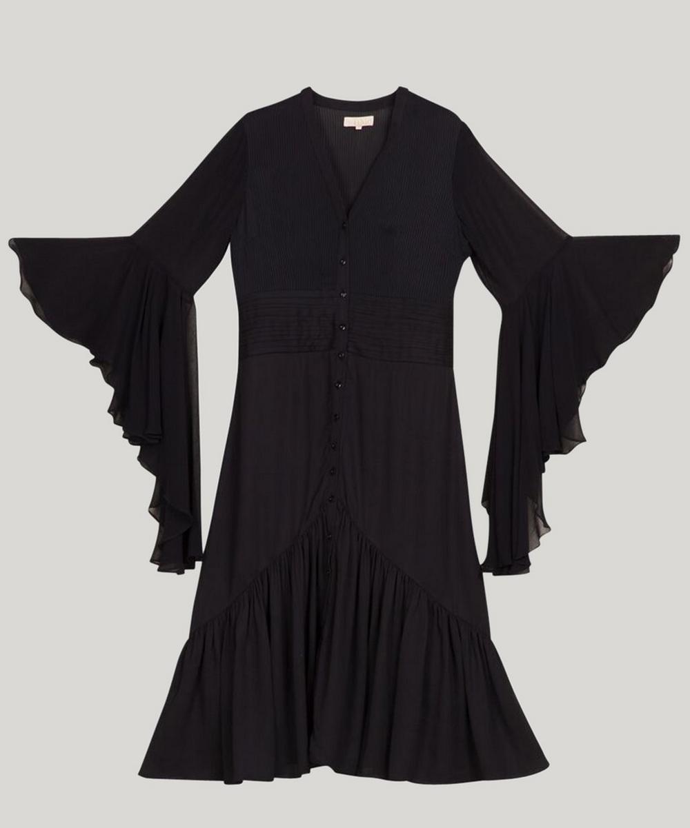 Flare Sleeve Midi-Dress