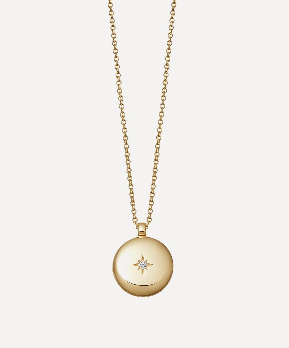 Astley Clarke - Gold Plated Vermeil Silver Contemporary Sapphire Medium Astley Locket Necklace