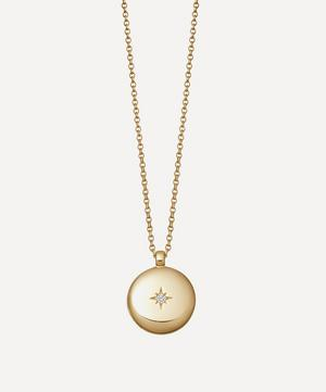 Gold Plated Vermeil Silver Contemporary Sapphire Medium Astley Locket Necklace
