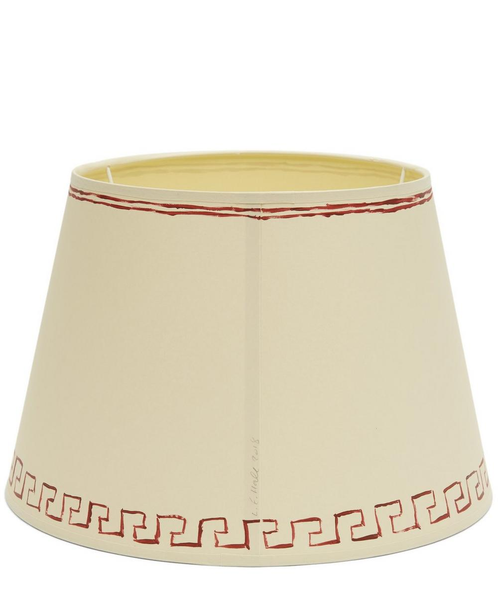 Hand-Painted Greek Key Table Lampshade