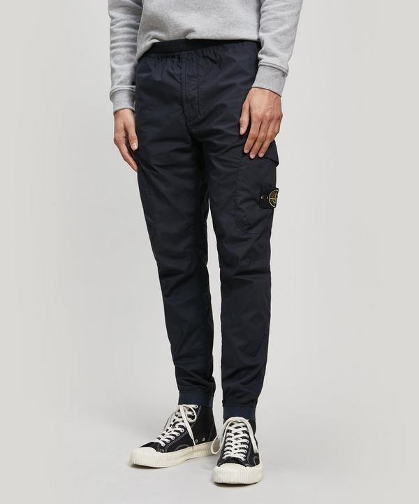 Dyed-Cotton Cargo Trousers