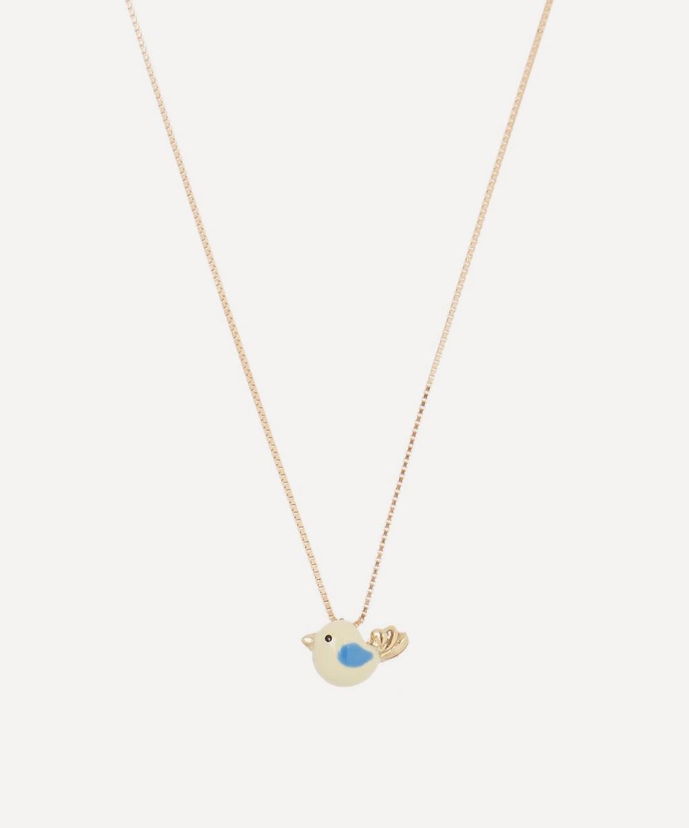 Atelier VM - 18ct Gold Canarino Enamel Bird Necklace