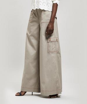 Wide-Leg Cargo Trousers