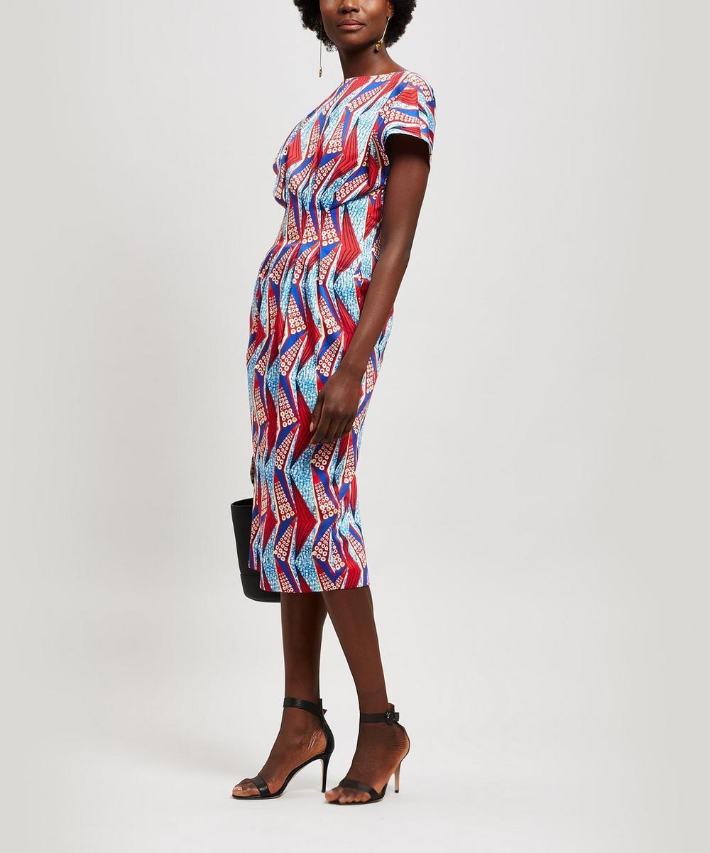 Runway Geometric Print Cotton Shift-Dress