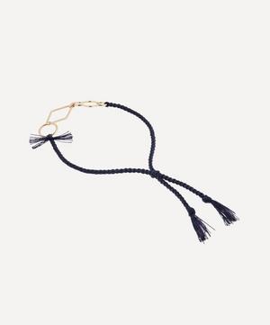Gold Rakhi Three Elements Cotton Thread Bracelet