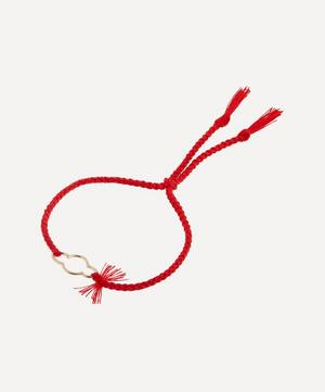 18ct Gold Rakhi Cloud Cotton Thread Bracelet