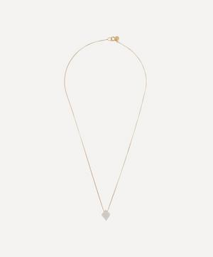Gold Cristal Moonstone Pendant Necklace
