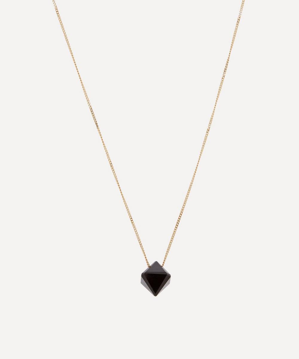 Gold Cristal Onyx Pendant Necklace