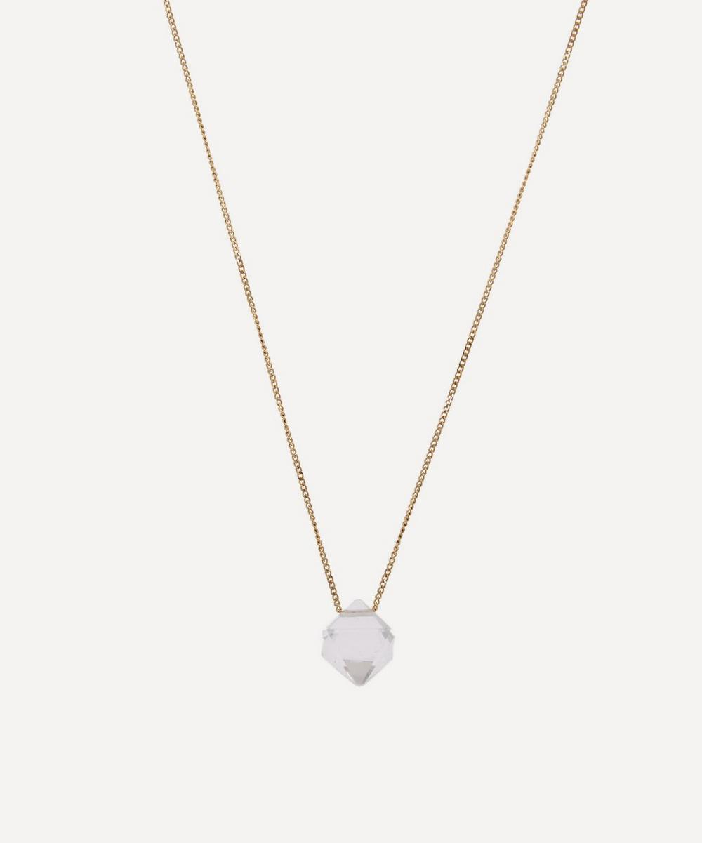ATELIER VM Gold Cristal Rock Crystal Pendant Necklace