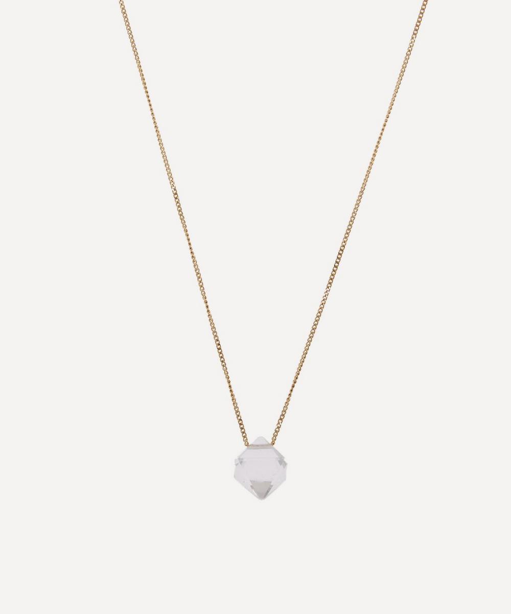 Atelier VM - 18ct Gold Cristal Rock Crystal Pendant Necklace