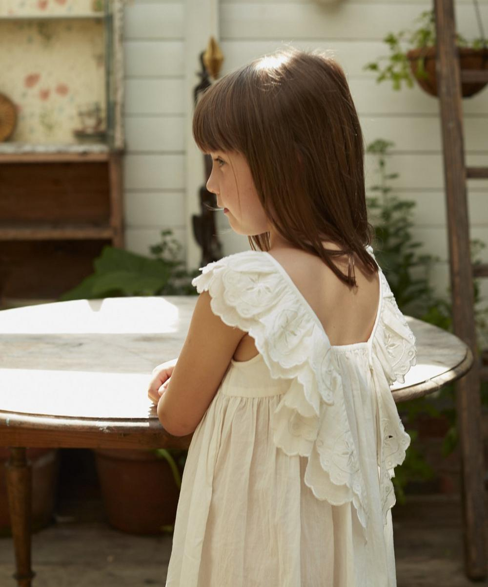 The Vintage White Wren Embroidered Cotton Nightdress 2-8 Years
